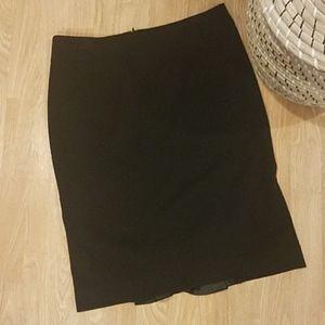 RAFAELLA black knee length ruffle dress skirt 8